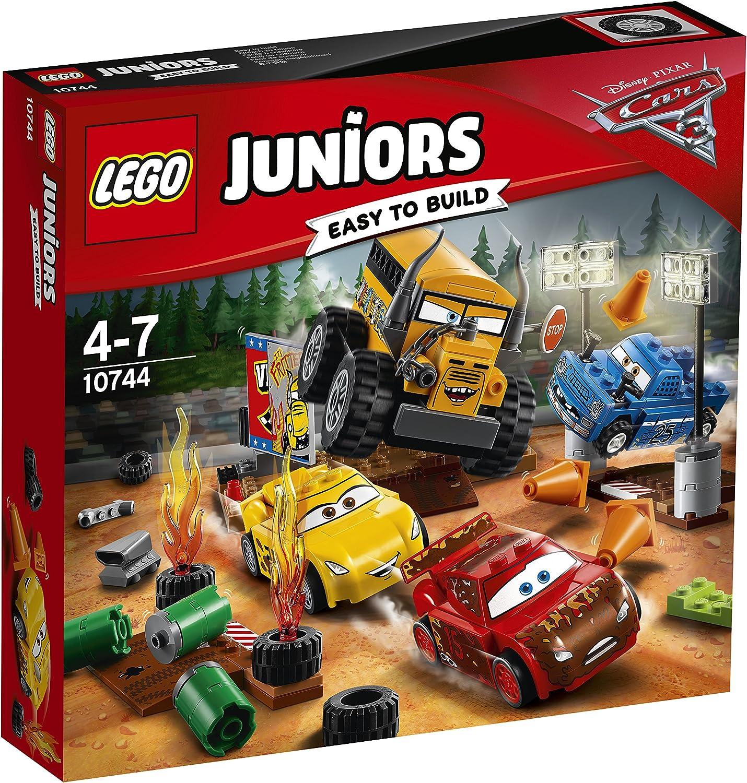 LEGO Juniors - Carrera Crazy 8 en Thunder Hollow, Juguete de Construcción de Carrera de Coches Inspirado en la Película Cars (10744) , color/modelo surtido