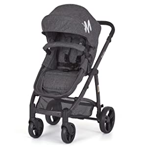 Dream On Me Mia Moda Marisa Three-in-One Stroller, Grey
