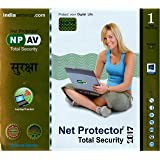 Net Protector Total Internet Security and PC Protection 2017-1 PC, 1 Year (CD)