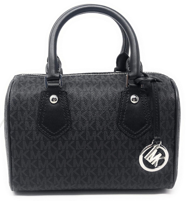 cf3fb17bf56f Amazon.com: Michael Kors Aria Mini Satchel (Black PVC): Shoes
