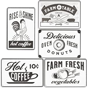 Rustic Wall Décor, Vintage Kitchen Sign (5 Pack)