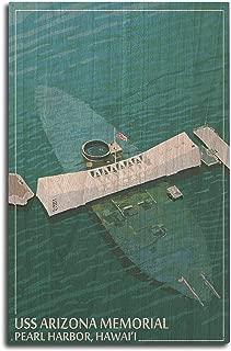 product image for Lantern Press Pearl Harbor, Hawaii - USS Arizona Memorial (10x15 Wood Wall Sign, Wall Decor Ready to Hang)