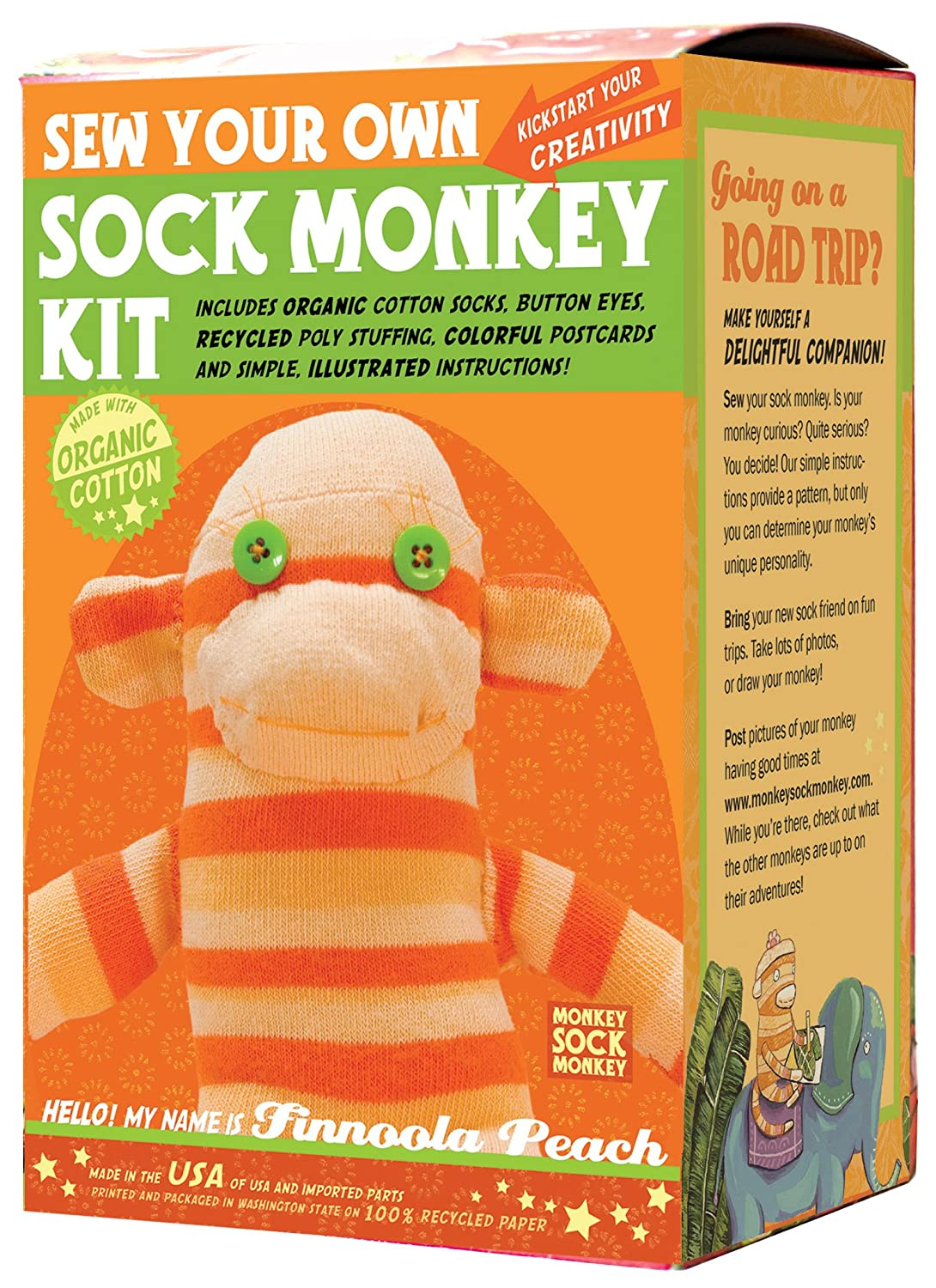 Sock Sock Sock Monkey Kit, Orange , Made in the USA B0055QU4QY | Deutschland Shops