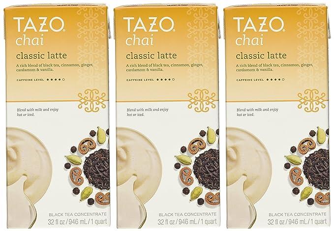 Tazo Chai natural Spiced negro cajas de concentrado de té 900 ml (Pack de 3