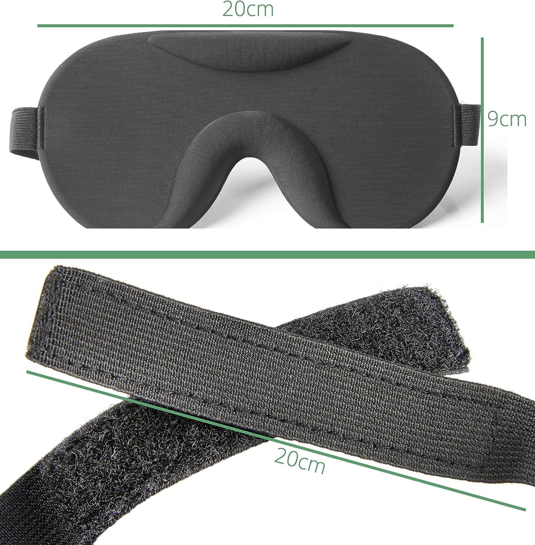 masque pour dormir confortable avec moulures Soul Projekt 3D Masque de nuit pour hommes et femmes Bandeau 3D ultra occultant anti-lumi/ère et opaque Noir 3D masque de sommeil /épais