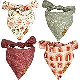 Remy+Roo Dog Bandanas - 4 Pack   Rubi Set   Premium Durable Fabric   Unique Shape   Adjustable Fit   Multiple Sizes Offered