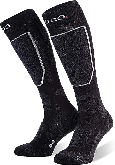 Eono Calcetines de esquí para hombre y mujer, medias de esquí o juego básico de 2 o premium 1 pack con porcentaje de merino: Amazon.es: Deportes y aire libre