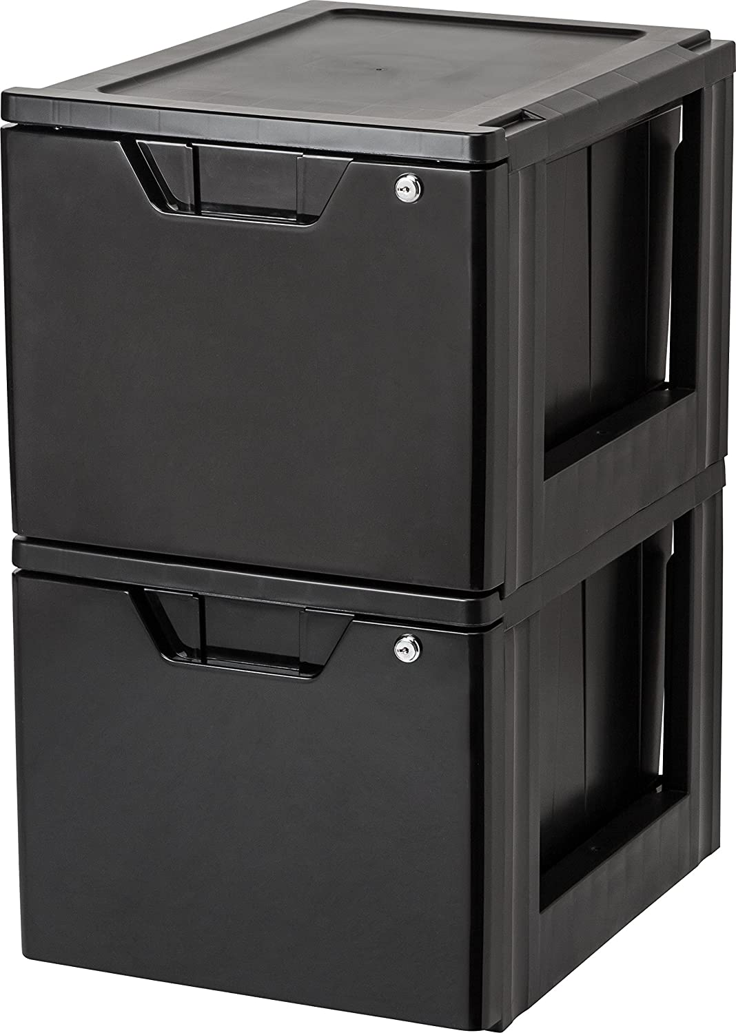 Amazon.com: IRIS Stacking File Storage Drawer with Lock, 2 Pack, Lock and Key: Home & Kitchen