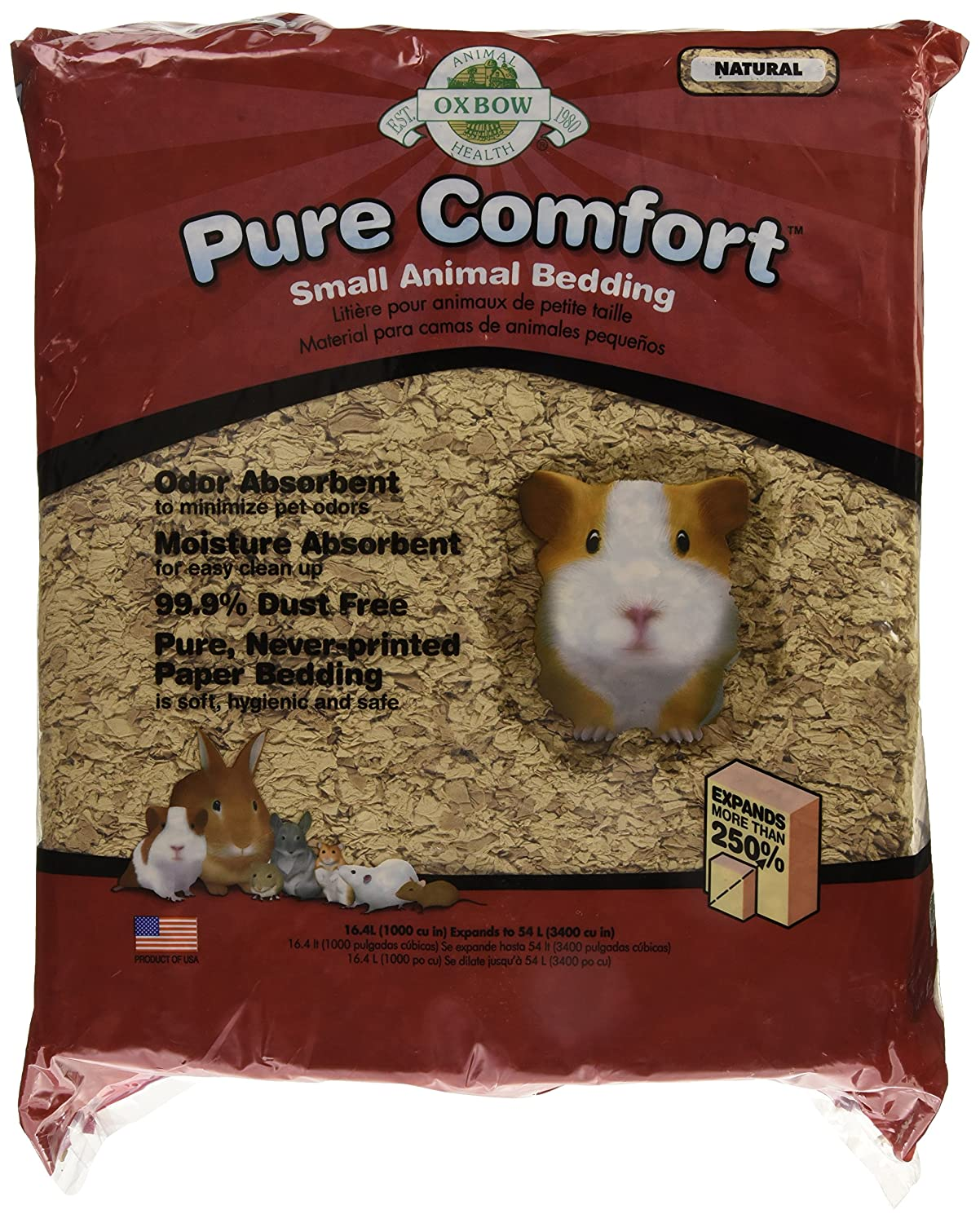 Oxbow Material de Cama Pure Comfort, 16,4 litros, Color Natural Beis: Amazon.es: Productos para mascotas