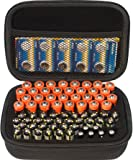 Small Battery Organizer Case Storage Container, Holding Total 80+ pcs 2A 3A 4A Button Cell Batteries(No Battery/Tester Included)