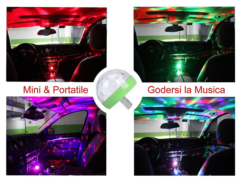 ngsgoods  Mini USB Disco Light, Portable Home Party Light, DC 5V USB Led Disco ...