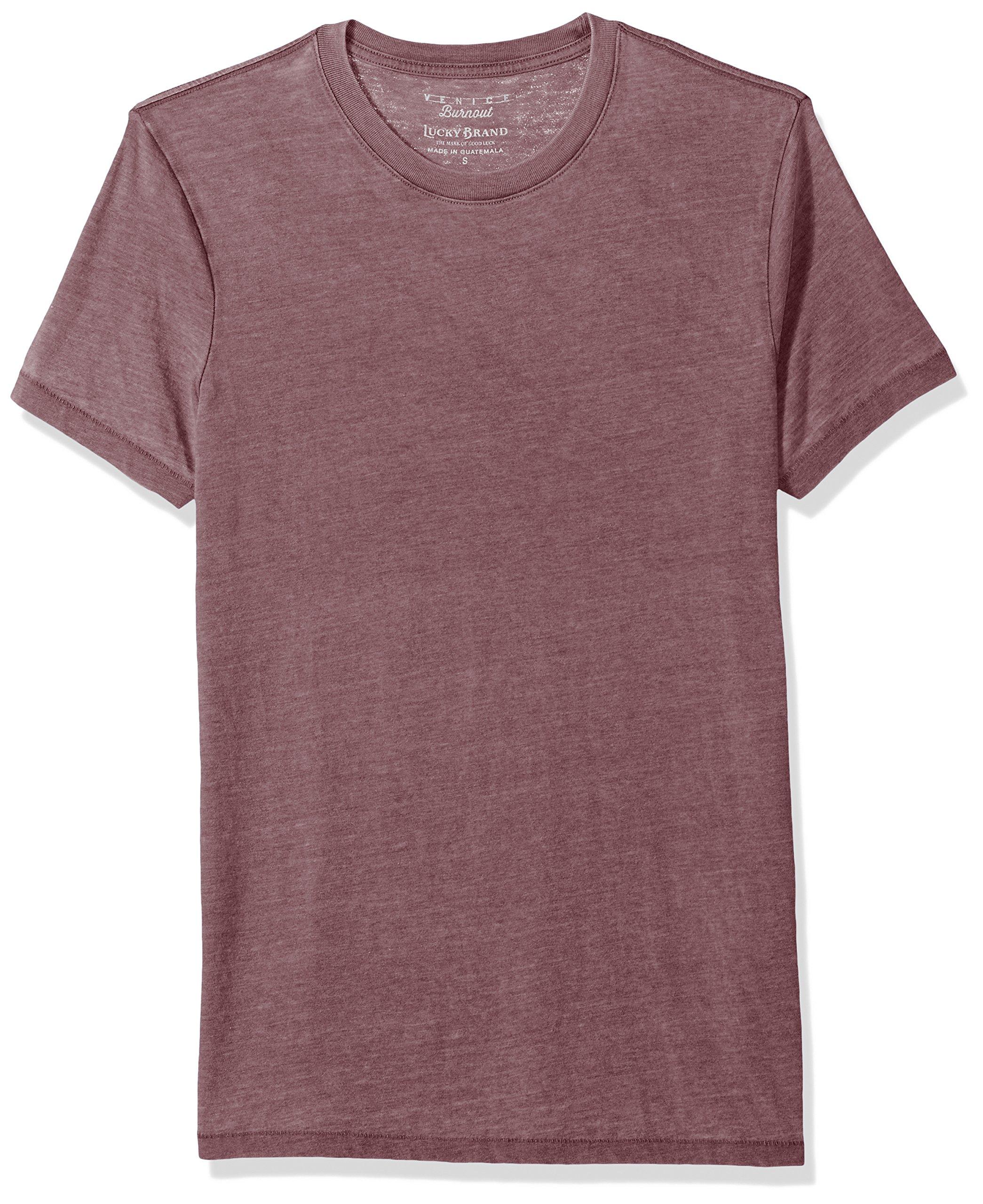 Lucky Brand Men's Venice Burnout Crew Neck Tee Shirt, Port Royale, XL