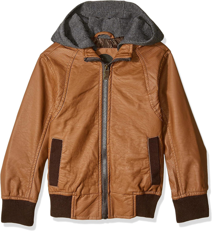 10//12 Cognac Urban Republic Big Boys Faux Leather Jacket