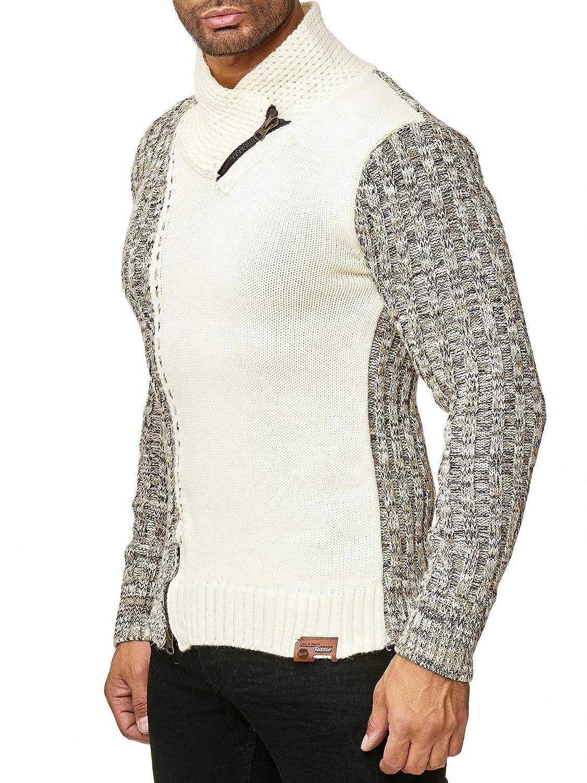Tazzio 16477 Pullover da uomo a lana grossa