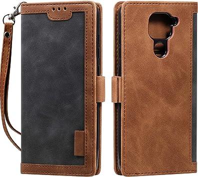 HTDELEC Funda Xiaomi Redmi Note 9,Premium Cover Libro Xiaomi Redmi Note 9,Magnético Protective Case para Xiaomi Redmi Note 9(N-Gris): Amazon.es: Electrónica