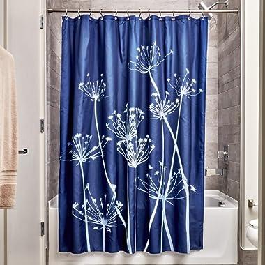 InterDesign Thistle Shower Curtain, Standard - Navy and Slate Blue