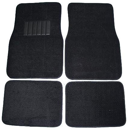Carpet Floor Mats >> Amazon Com Front Rear Carpet Car Truck Suv Floor Mats Black