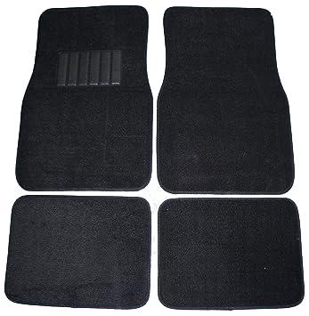 Suv Floor Mats >> Front Rear Carpet Car Truck Suv Floor Mats Black