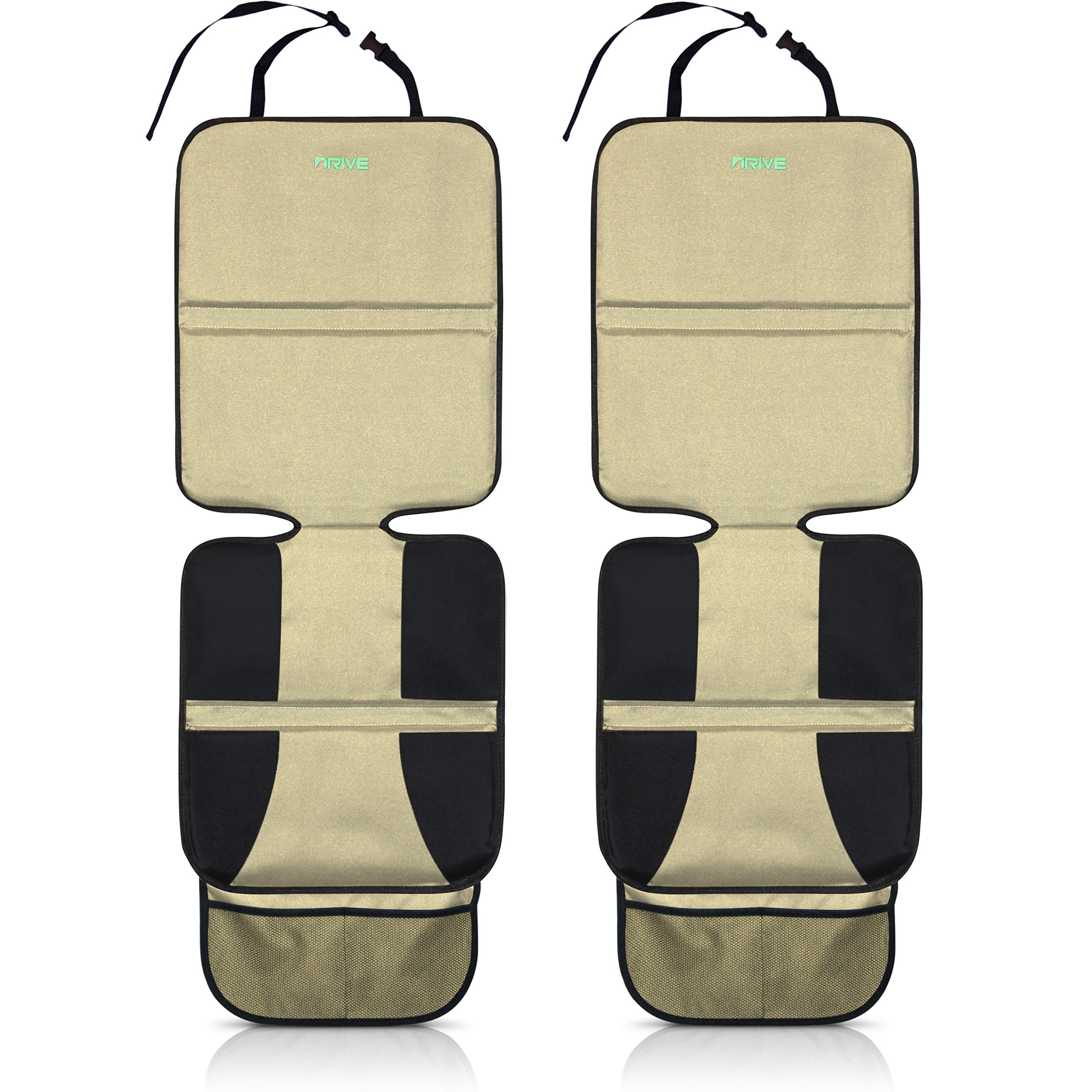 car seat protector tan 2 pack by drive auto products best protection for child baby cars. Black Bedroom Furniture Sets. Home Design Ideas