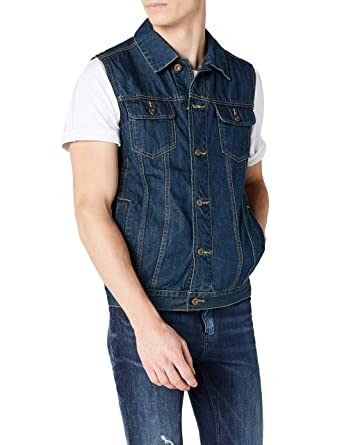Urban Classics Herren Weste Jeansweste Used Look Denim Vest ärmellos  Amazon .de  Bekleidung dc03e32fc0
