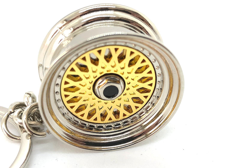 Amazon.com: GT//Rotors Gold BBS Wheel Keychain Automotive Automotive Part Car Gift Key Chain Ring: Automotive