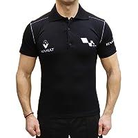 Renault Sport Polo Collier Logo Broderie Embroidery EMBROIDÉ BRODÉ T-Shirt Noir en Coton Peigné