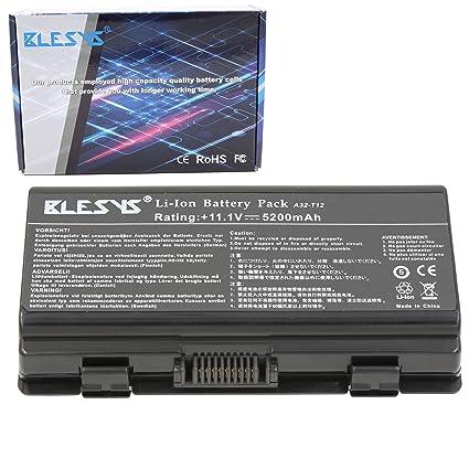 BLESYS 11.1V 6-C/élula A32-T12 A32-X51 Bater/ía Compatible con ASUS X51 X51L X51H X51RL X58 X58C X58L T12 T12E Serie Bater/ía de computadora port/átil