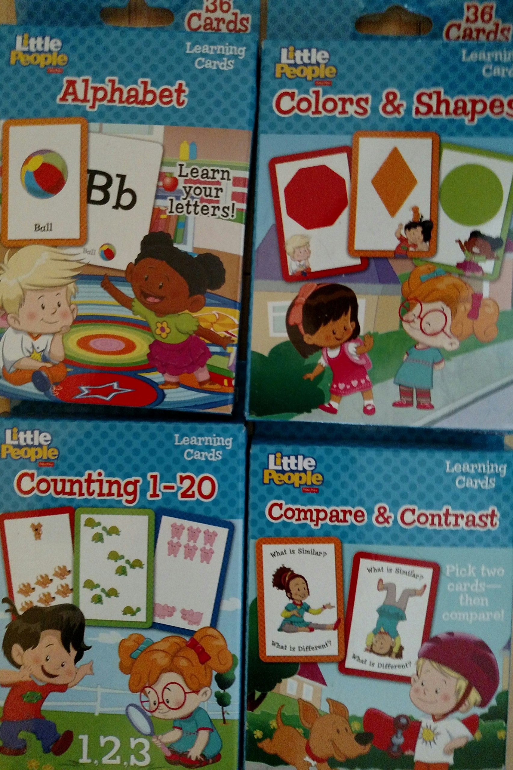 Fisher-Price Little People Alphabet, Colors & Shapes, Compare & Contrast, & Counting 1-20 Learning Cards PDF ePub fb2 book