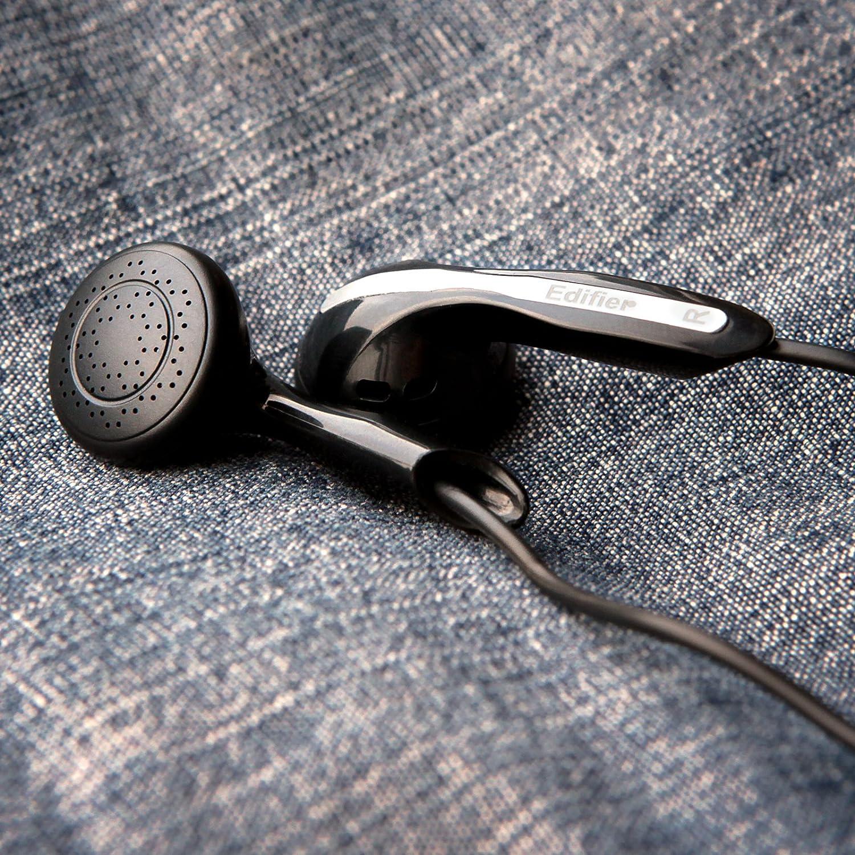 Negro Edifier H180 Auriculares Hi-Fi Est/éreo de Estilo Auricular Auriculares Cl/ásicos Intra Auriculares de Bot/ón Sin Microfono