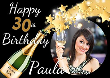 personalised 21st 18th 30th 40th 50th happy birthday party poster