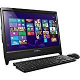 Lenovo C260 19.5 inch Non-TouchScreen All-in-One Desktop (Black) - (Intel Celeron J1800 2.58 GHz, 4 GB DDR3 RAM, 500 GB HDD, Integrated Graphics, DVDRW, HDMI, Camera, Wi-Fi, Windows 8.1 with Bing)