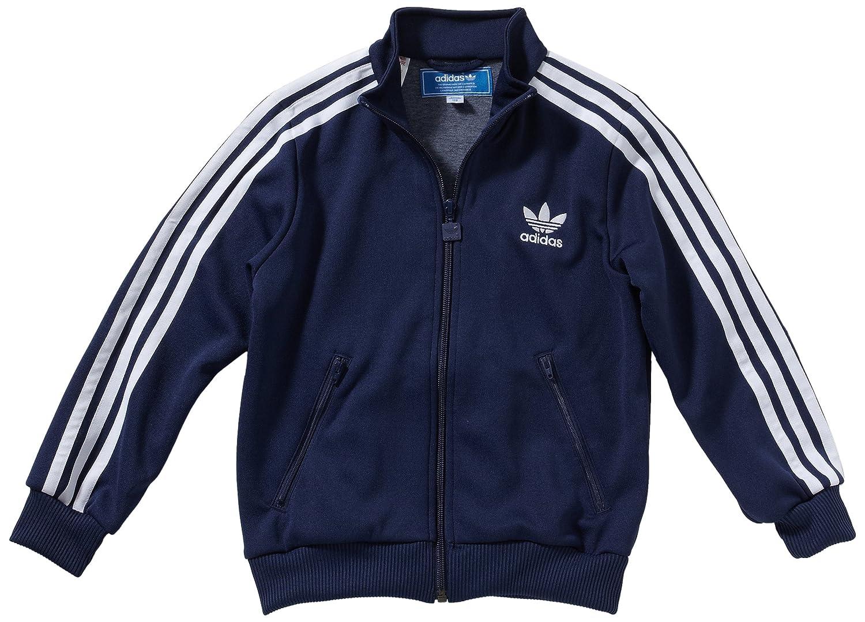 2cd7f98e adidas Firebird Child's Tracksuit Top blue new navy Size:9 years:  Amazon.co.uk: Clothing