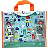 Build & Imagine: Career Dolls (magnetic wooden dress-up dolls with carrying case)