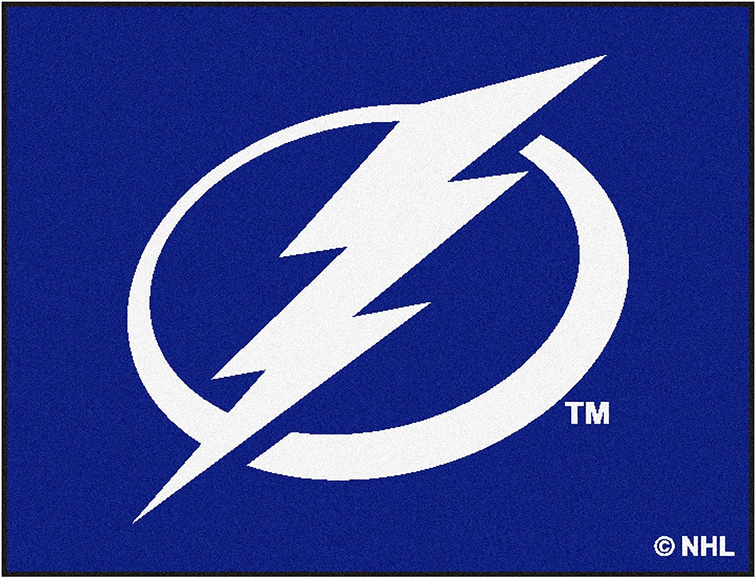 27 diameter FANMATS 10550 NHL Tampa Bay Lightning Nylon Face Hockey Puck Rug