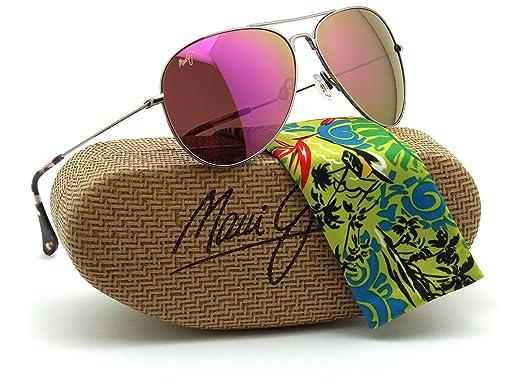 bf5262b5231 Maui Jim P264-16R MAVERICKS Polarized MAUI Sunrise - Pink Lens   Amazon.co.uk  Clothing