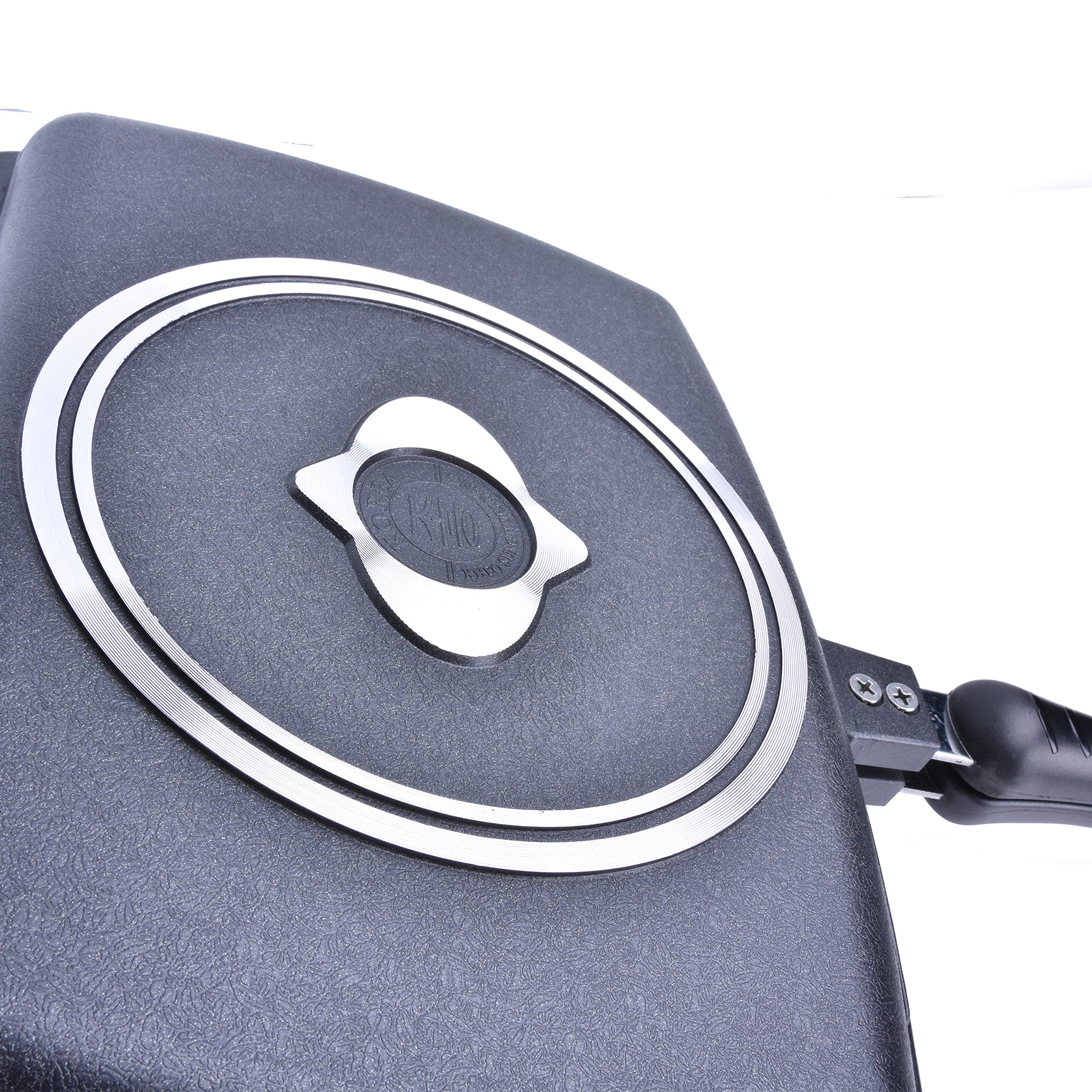 YONATA Double-sided Portable BBQ Pan Set,Separate Barbecue Plate For Indoor and Outdoor Cooked Chicken,Fish,Egg by YONATA (Image #7)