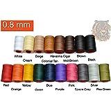 0.8mm Ritza Tiger Thread - Waxed Polyester Braided Thread for Hand Sewing Leather (Mini Spool 25 meters) …(Black (Mini Spool)) …