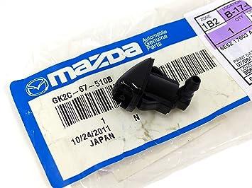 2003 - 2008 Mazda 6 izquierda conductor parabrisas limpiaparabrisas Arandela Jet boquilla OEM gk2 C67510b: Amazon.es: Coche y moto