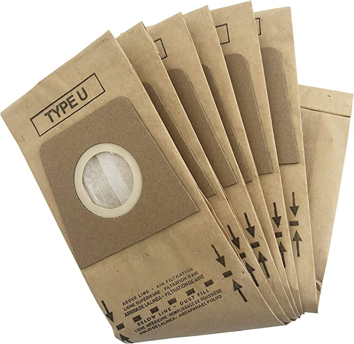 QCQueencleano Micro Lined High Efficiency Paper Bags (18-Pack) Compatible with Dirt Devil Royal Type U Vacuum Replacement for 3920047001 3920048001 & 3920750001