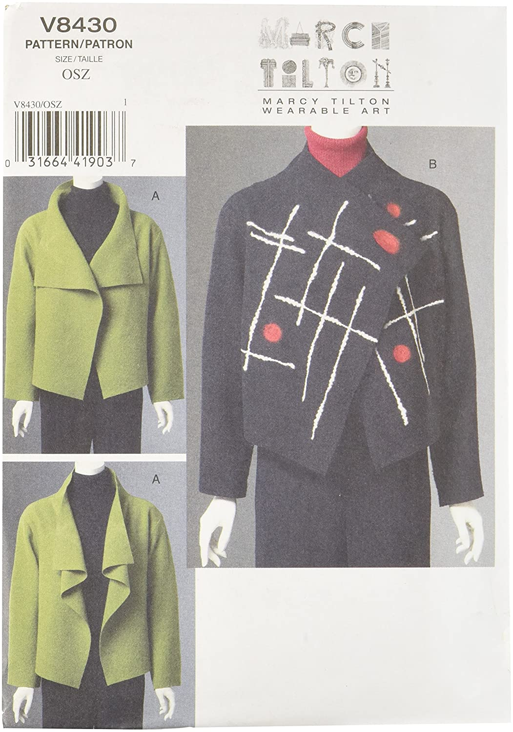Vogue Patterns V8430 Misses' Jacket V8430OSZ