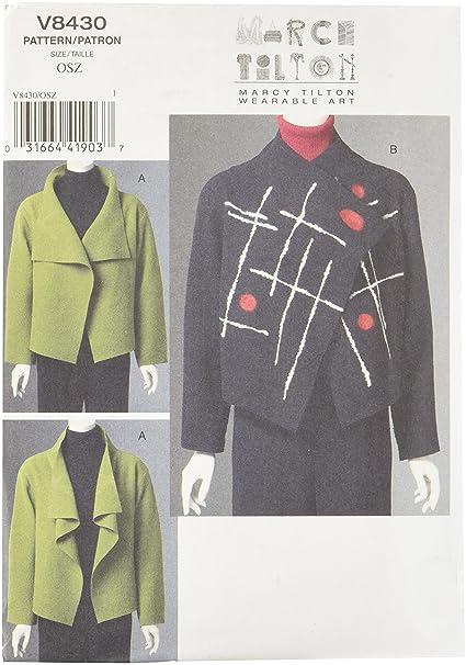 Vogue 8430 - Patrones de costura para chaqueta de mujer [en ...