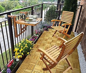Balcón mesa y sillas de Casino (1 mesa + 2 sillas) | pequeño ...