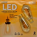 FEIT LED Vintage Style Bulbs - 4.8WATT/40WATT Replacement 2 Pack