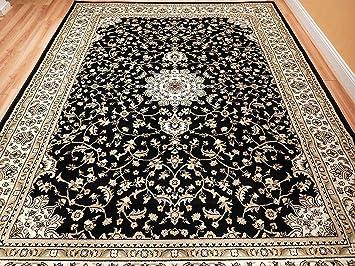 Amazon Com Black 8x11 Persian Rug Oriental Rugs 8x10 Area Rug