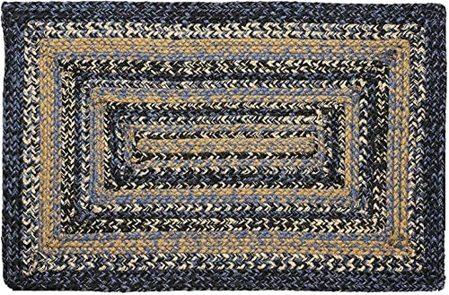 IHF Home Decor River Shale Braided Area Rug Rectangle Kitchen Porch Indoor Outdoor Carpet Jute Natural Fiber Floor Mat – 22 x 72