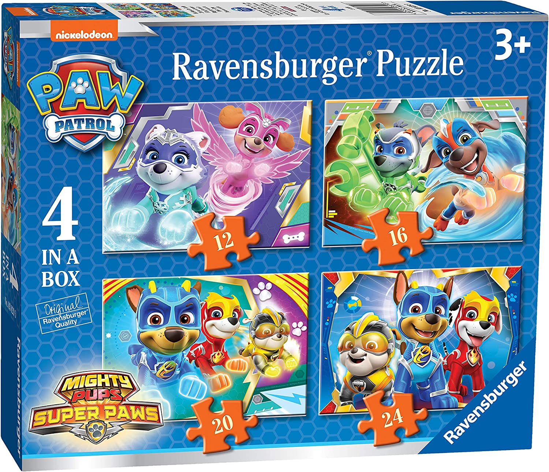 Ravensburger Paw Patrol - 4 puzzle en una caja, 12-16-20-24 piezas, para niños 3+ años (03029)