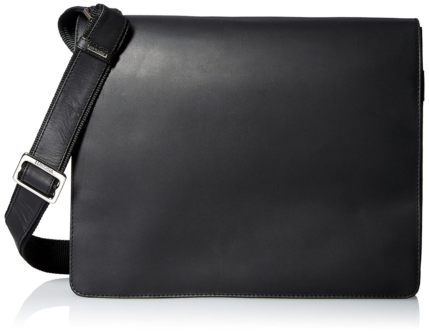 d7f6aef150a6 Visconti Leather Distressed Messenger Bag Harvard Collection, Black