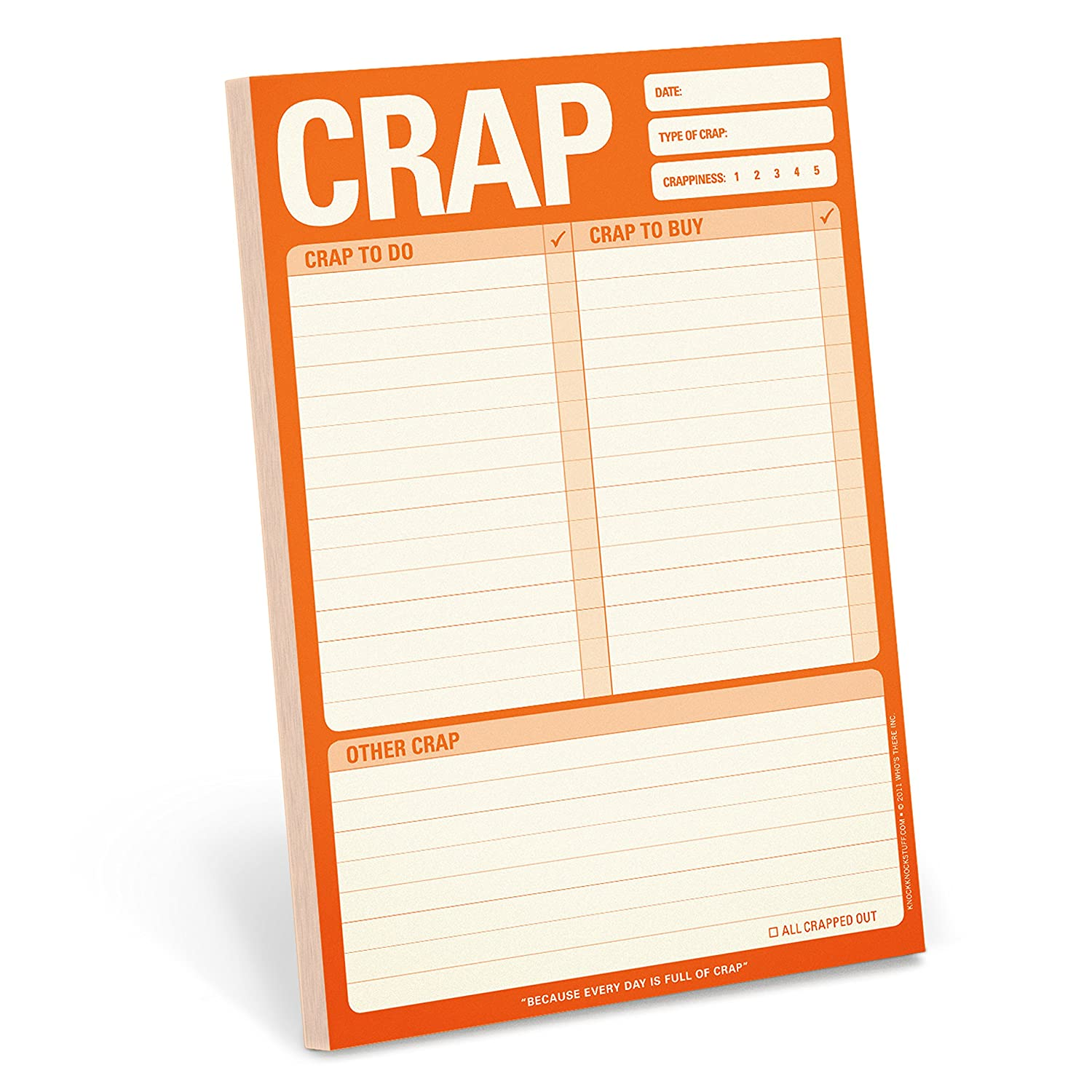 To Do List Note Pad 6 x 9-inches Knock Knock Crap Pad