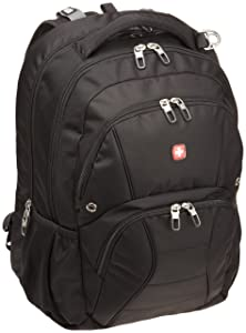 Swiss Gear SA1908 Black TSA Friendly ScanSmart Laptop Backpack- Fits Most 17 Inch Laptops and Tablets