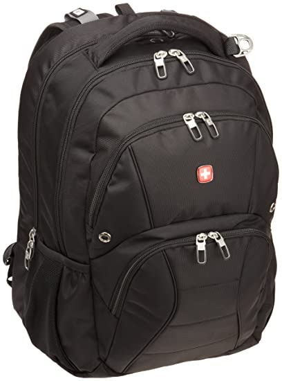 cda59a6888f5 Swiss Gear SA1908 Black TSA Friendly ScanSmart Laptop Backpack - Fits Most  17 Inch Laptops and Tablets
